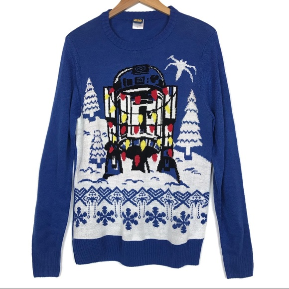 Star Wars R2-D2 Lights Ugly Christmas Sweater